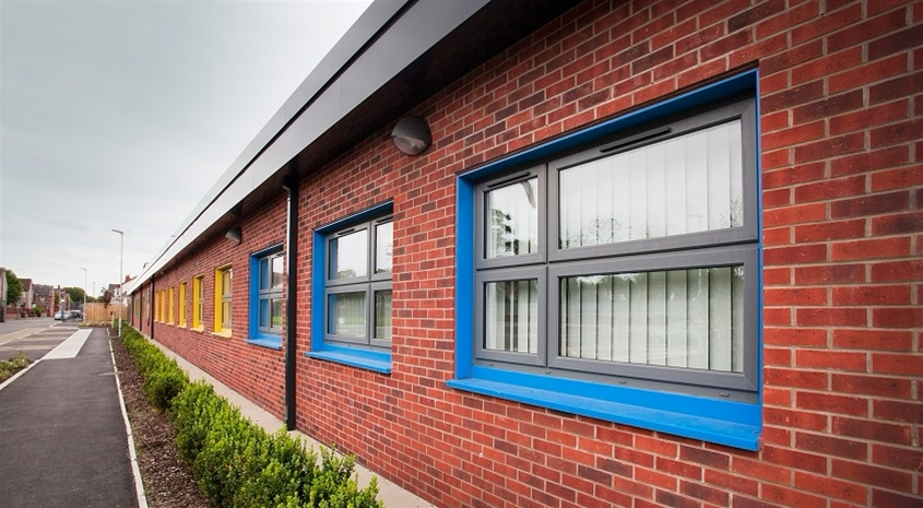 PVC-U and Aluminium work together for special school colour-coding