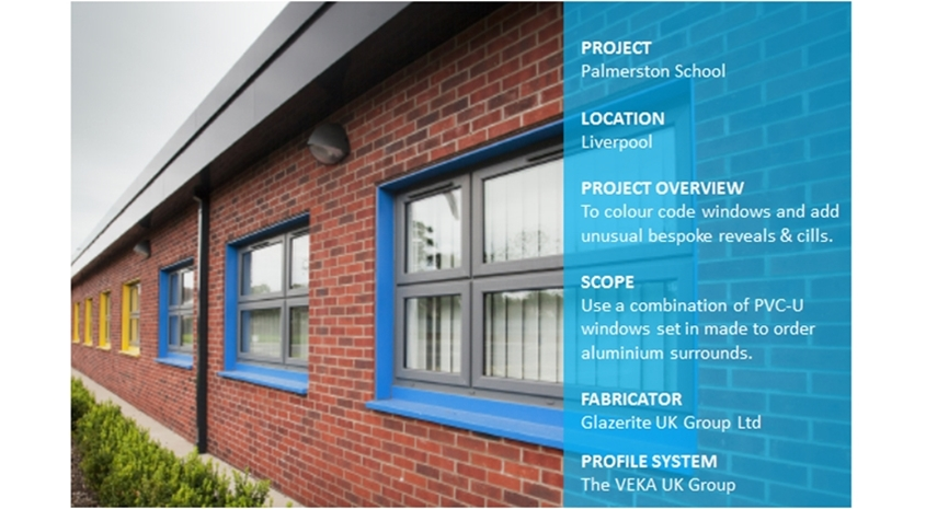 Colour-coding Windows at New Build Special School
