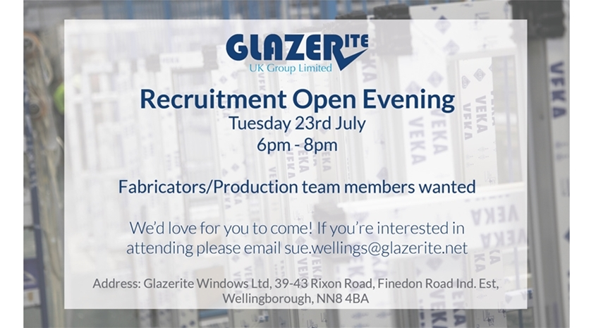 Glazerite Recruitment Open Evening