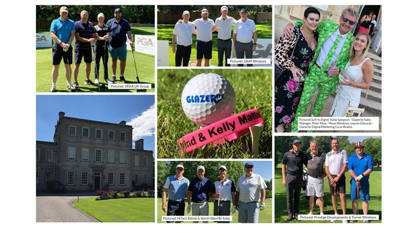 Glazerite golf day raises over £10,000 for mental health charity