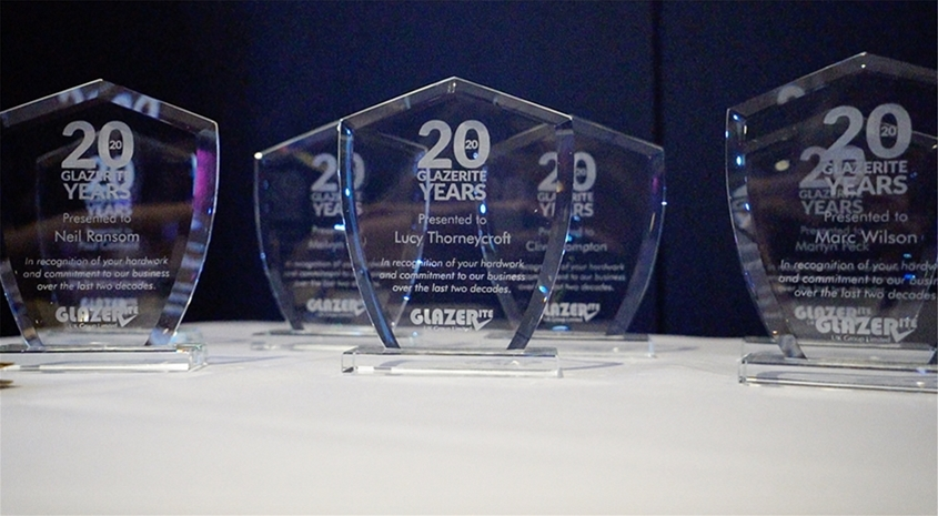 Long Service Employees recognised at Glazerite 20th anniversary bash